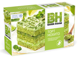 Торт мохито Baker House 350 гр. 1/8