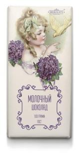 Шоколад молочный Цветочное Ретро (Мари) 100г 1/20