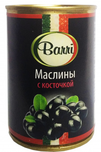 Маслины c косточкой BARRI 1/24 300 гр
