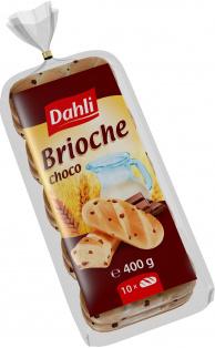 Булочки молочные с шоколадом Dahli 400 гр. 1/7