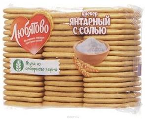 "Крекер Янтарный с солью 500г 1/12 ТМ""Любятово"""
