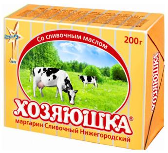 """Маргарин """"Сливочный Нижегородский"""" 200гр 1/30"""