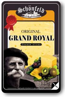 Сыр Schonfeld Grand Royal 45% нарезка 125г/12шт