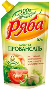 """Майонез """"Провансаль"""" 233гр пакет ТМ Ряба 1/28"""
