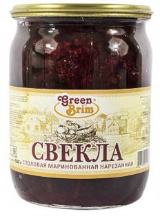 Свекла маринованная Green Brim ГОСТ 500 гр с/б 1/8