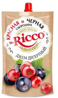 Джем десертный Красная и чёрная смородина ТМ MR Ricco д/п 300г 1/16