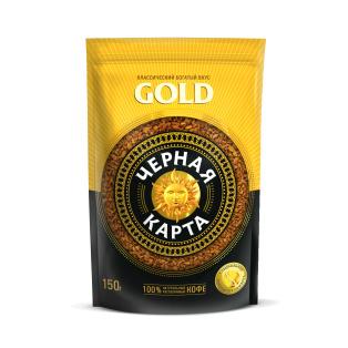 Кофе растворимый Черная Карта Gold, пакет, 150г (*6)