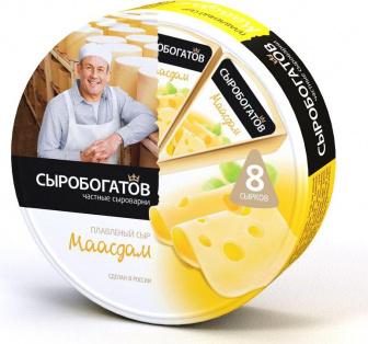 "Сыр плавленый ""Маасдам"" 45% 130г круг 1/12"