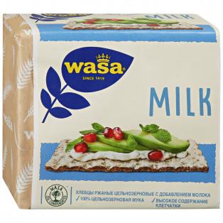 Хлебцы ржаные из цельнозерновой муки с молоком WASA 230гр 1/12