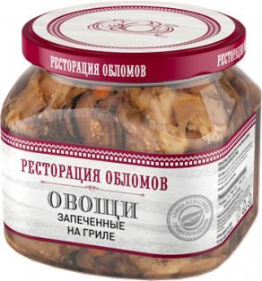 """Овощи запечённые на гриле """"Ресторация Обломов"""" 1/6 420 гр."""