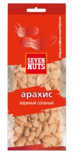 """Арахис жареный соленый ТМ """"Seven Nuts"""" 100г 1/12"""