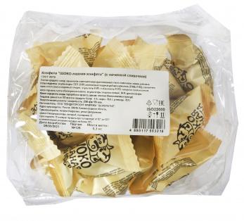 Конфеты ШОКО-ладная конфета со сливоч. начинкой 300г 1/12 пакет