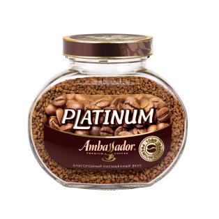 Кофе растворимый Ambassador Platinum, ст.б., 95г (*6)