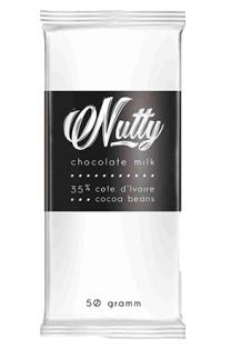Шоколад молочный NUTTY 50г 1/35