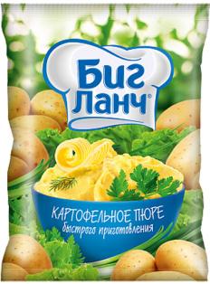 """Картофельное пюре БП """"БИГ ЛАНЧ"""" 250гр x 12 пленка термосвариваемая"""