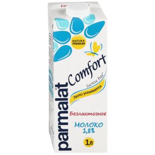 """Молоко питьевое """"Пармалат"""" ультрапаст. безлактозное 1,8% 1л 1/12"""