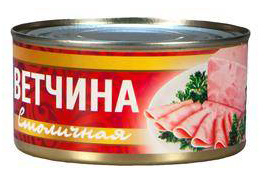 Ветчина Столичная с/к ТУ 325 г 1/24 ТМ Рузком