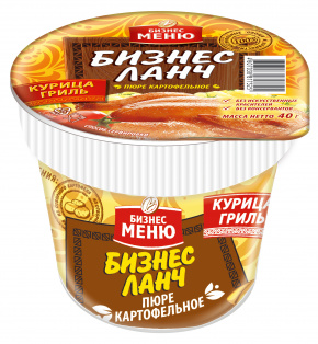 """Картофельное пюре БП """"Бизнес Ланч"""" со вкусом курицы гриль 40гр x 24 стакан"""