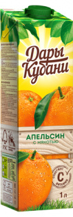 Нектар апельсииновый с мякотью 1л. Дары Кубани Ultra Edge 1/6