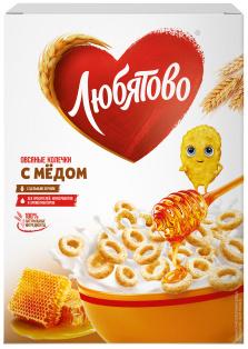 """Овсяные колечки с медом 200г 1/10 ТМ""""Любятово"""""""