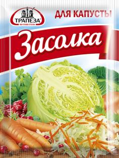 """Приправа """"Для квашения капусты"""" ТМ Трапеза, пакет 30г. 1/30"""