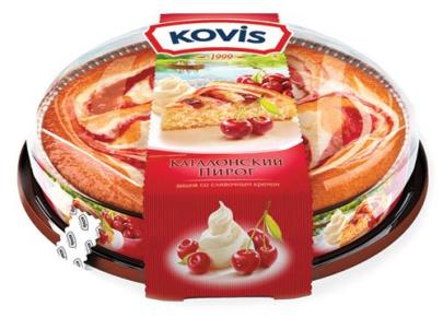 Пирог вишня со сливками Kovis 400 гр. 1/6