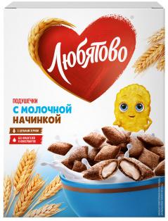 """Подушечки с молочной начинкой 250г 1/9 ТМ""""Любятово"""""""