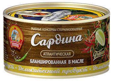 Сардина атл. бланшир. в масле КТК 185 гр 1/24