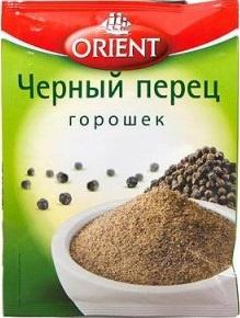 Черный перец горошек ORIENT, пакет 10 г. 1/25