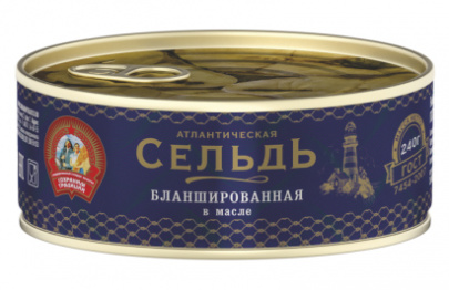 Сельдь бланшированная НДМ КТК 240 гр 1/24
