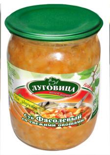 Суп Фасолевый со свежими овощамиТМ Луговица 500 мл СКО ТУ 1/8