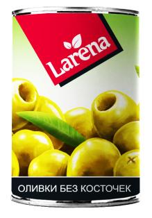 Оливки без косточки Larena 300гр 1/24