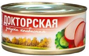 """Колбасная закуска """"Докторская"""" 325 г 1/24 ТУ ТМ Рузком"""