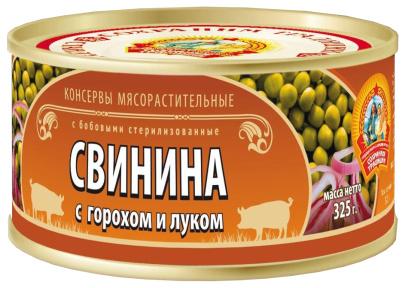 Свинина с горохом и луком ГОСТ КТК 325г 1/24