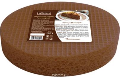 Вафельные коржи для торта круглые( темные) 120г 1/20