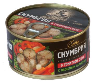 Скумбрия атл. в т/с с овощами За Родину 185гр 1/32 ключ