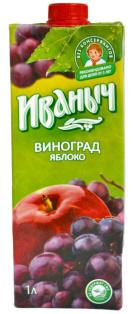 Нектар яблочно-виноградный Иваныч Tetra pak 0,95л 1/12