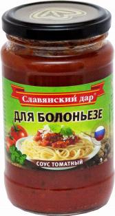 """Соус томатный """"Для болоньезе"""" 360г 1/8"""