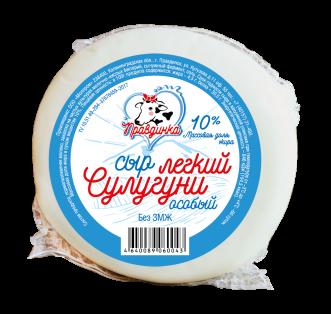 Сыр Сулугуни 10% 320г, в/у 1/10 ТМ Правдинка