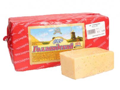 Сыр сычужный Голландский, брус