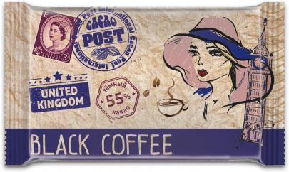 Шоколад темный Cacao Post Black coffee 20г 1/40