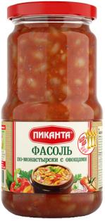 Фасоль по-монастырски с овощами Пиканта 530 г 1/6