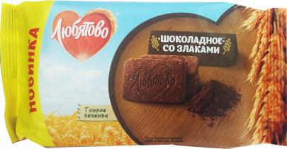 """Печенье сахарное """"Шоколадные со злаками"""" 114 гр. 1/18"""