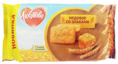 """Печенье сахарное """"Медовое со злаками"""" 114 гр. 1/18"""