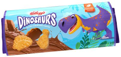 """Печенье сахарное в молочной глазури Dinosaurs 127 г ц/п 1/15 ТМ""""Kellogg"""""""