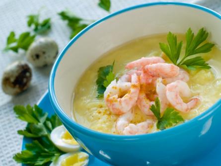 Суп из креветок с рисом