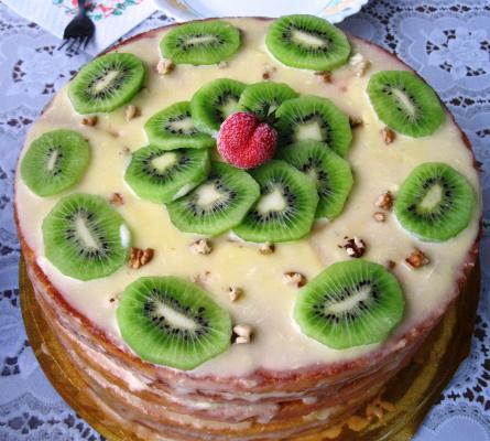 Фруктовый торт зa 10 минут