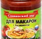 """Соус томатный """"Для макарон с базиликом"""" 360г, 1/8"""