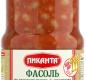 Фасоль по-монастырски с овощами Пиканта 530 г 1/12