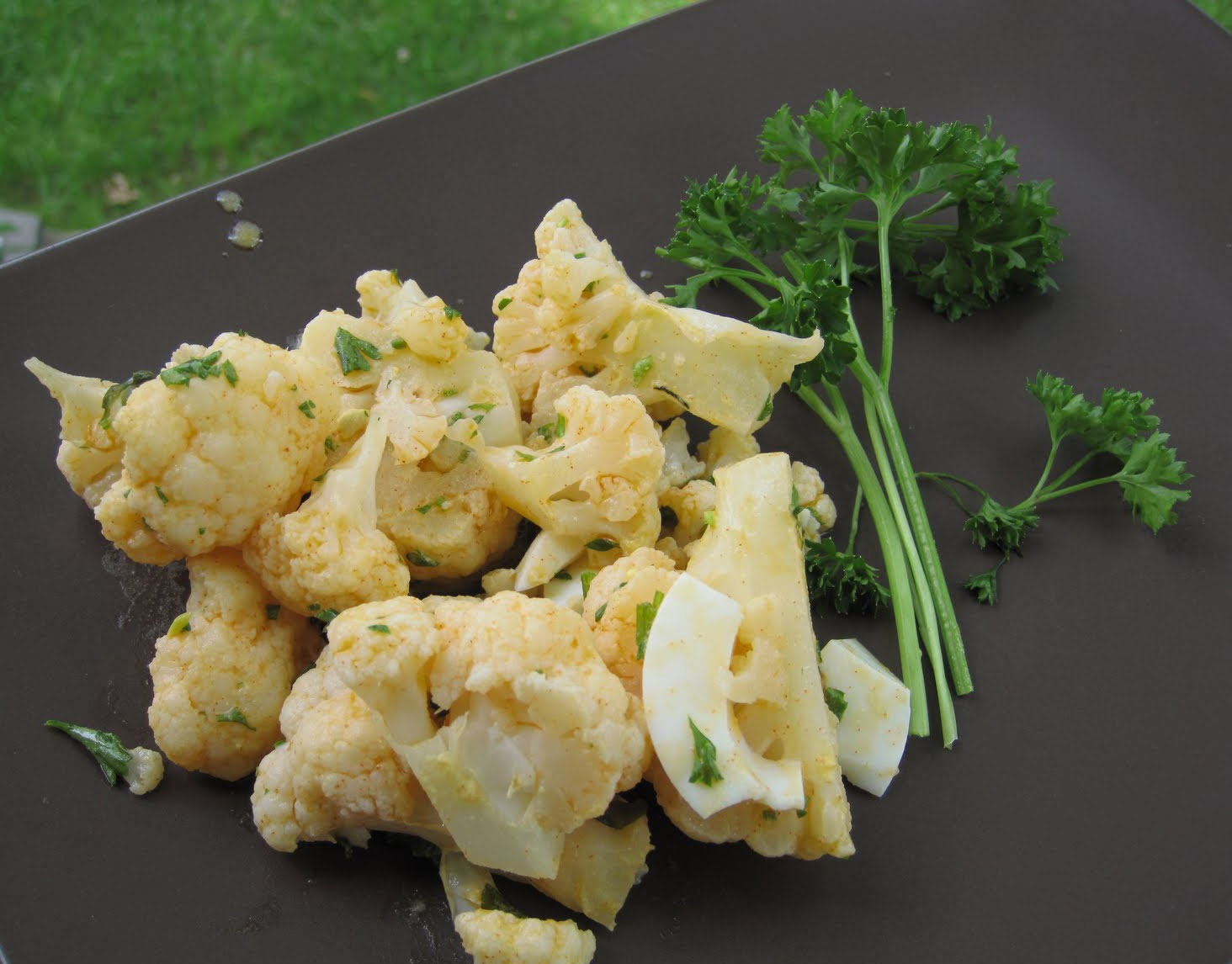Цветная капуста с грибами и сыром